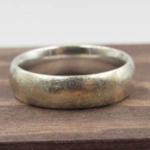 Size 6 Sterling Silver Simple Rustic Band Ring